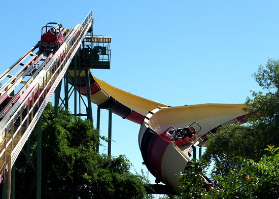 six flags rides. Six Flags Over Texas is near