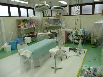 A Trauma Bay at the Fukushima University Medical Center