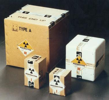 packaging for transporting radioactive materials