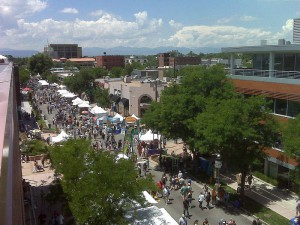 Art Festival in Cherry Creek. A neighborhood in Denver, Colorado.