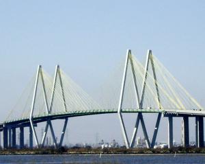 Fred Hartman Suspension Bridge