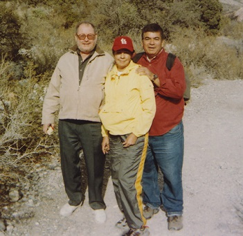 Robert Holloway - Hiking with Former Judge Don Chairez and Don's wife Dr. Maria Chairez. Red Rock Canyon National Conservation Area, Nevada.