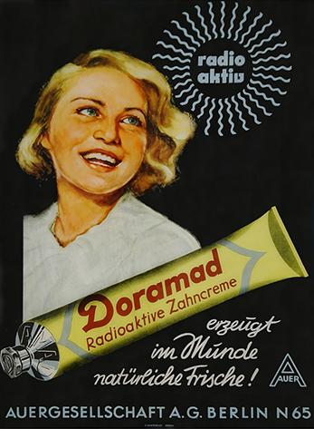 Doramad Advertisement for Doramad Radioactive Toothpaste